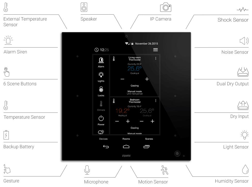 Видео: Новый настенный контроллер Zipato ZipaTILE